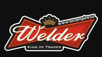 KING OF TRADES  welding Stickers. (3)