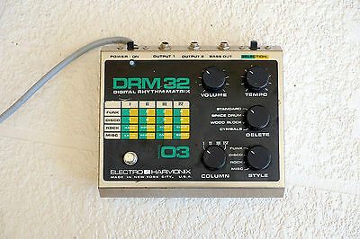 Electro-Harmonix DRM32 Vintage Rare Drum Machine EH DRM-32 DRM-16 Synth pedal