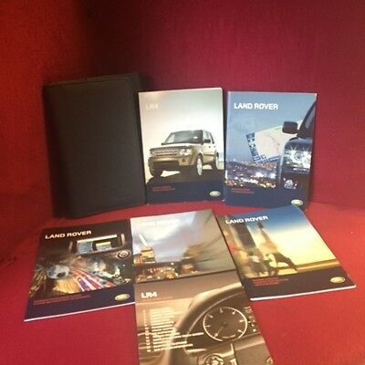 2010 Land Rover LR4 OEM Owners Manual book set with navigation book and case
