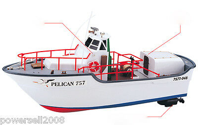 New Length 46CM Remote Control Boat Simulation Speedboat Model Gift Toys