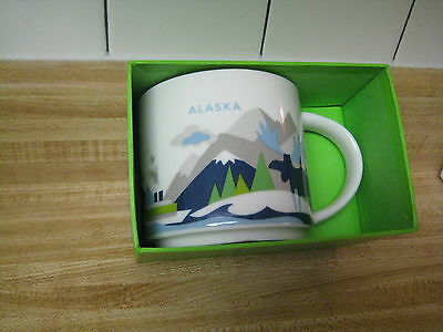 Starbucks You Are Here Collection Coffee Mug Cup Eagles Whales Sea Alaska