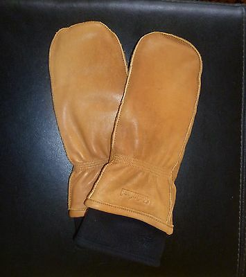 TIMBERLAND Men's Soft Leather Fleece Lined Work Gloves Mittens Sz L/XL Perfect