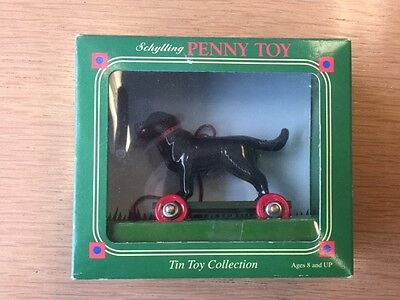 Schylling Penny Toy, Black Labrador Dog Ornament - Tin Toy Collection
