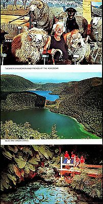 Postcard - Folder Rotora New Zealand Posted 1988 Showing Eight  Marvellous Views