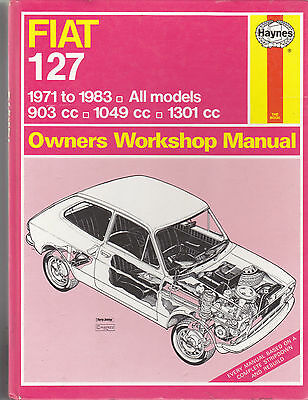 FIAT 127 USED HAYNES WORKSHOP MANUAL 1971 - 1983 PETROL Ref 193