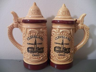 Vtg 70s 80s Cleveland Ohio TERMINAL TOWER Salt & Pepper Shakers Made in Japan