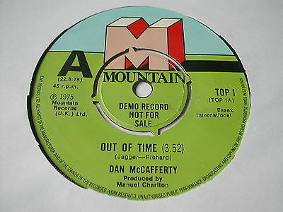 """DAN McCAFFERTY - OUT OF TIME - MOUNTAIN RECORDS 7"""" - UK DEMO / PROMO"""