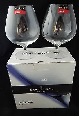 Boxed Pair of Dartington Wine Master Brandy Glasses - Signed (ST1406/P)