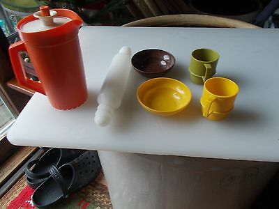 Vintage TUPPERWARE MINI SET Childrens TUPPERTOYS Kids Play Toy Dishes 6 pieces