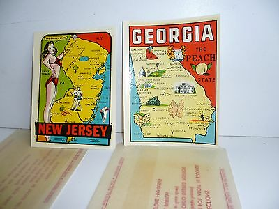 Vintage Travel Decal  Georgia    New Jersey  Transfer  1950