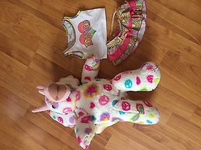 Build A Bear Dino with Dino Skirt And Top