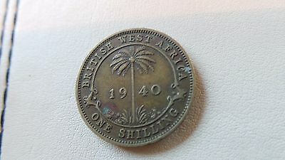 British West Africa, One Shilling Coin (1940).