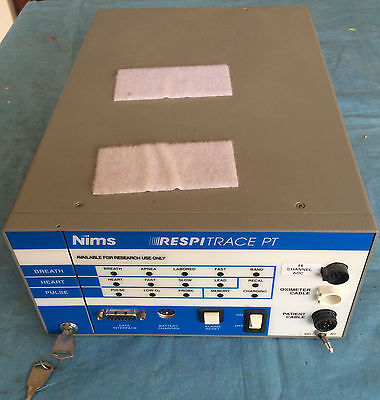 NIMS Respitrace PT Unit, Power Supply/Control and a Tube