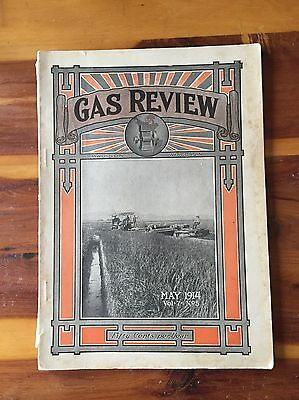 Gas Review Antique Hit And Miss Gas Engine  Motorcycle Advertising Literature