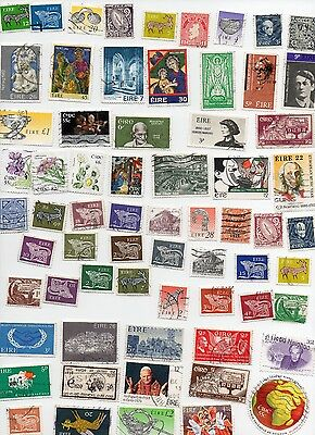 EIRE STAMPS 100 All Different and Off Paper