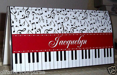 Personalized PIANO KEYS MUSIC Checkbook Cover great gift, FREE SHIPPING