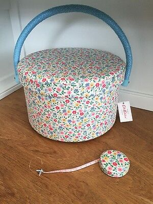 Cath Kidston Sewing Box Craft Storage And Tape Measure Trailing Daisy NEW
