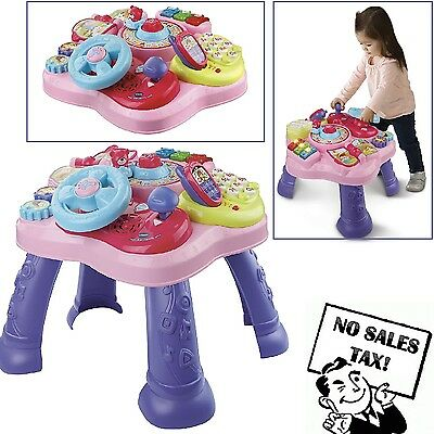 Toddler Development Toy Baby Learning Table Activity Book Phone Game Kid Pink