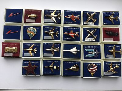 Clivedon Collection 23 Lapel Pins all in original packaging
