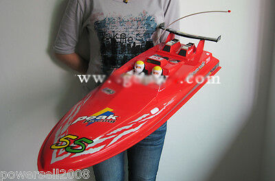 New Red Length 77CM Remote Control Boat Simulation Speedboat Model Gift Toys
