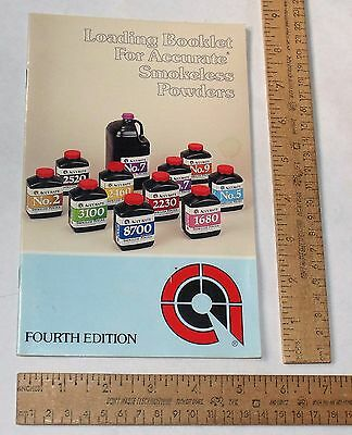 Loading Booklet For ACCURATE Smokeless Powders - Paperback BOOKLET - 4th ED - 1
