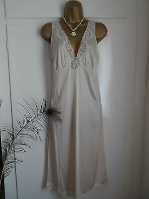 St Michael / M&s Full Slip/petticoat Light Beige Uk Sz 14 Bnwot