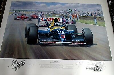 VICTORY - Limited Edition F1 Print Signed By Nigel Mansell & Tony Smith
