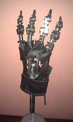 """14"""" T800 TERMINATOR ENDO HAND with Base Right Hand ABS Model ☺1:1 ARTICULATED"""