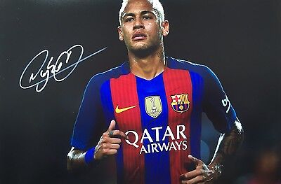 Barcelona Neymar Original Hand Signed Photo 30x20cm With COA