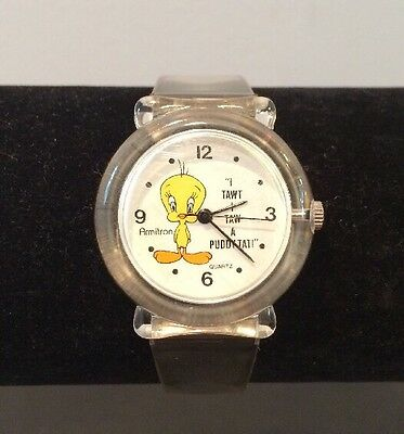VTG 1994 Armitron Tweety Bird Warner Bros Watch Working New Battery EUC