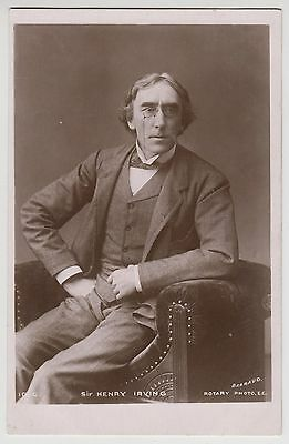 POSTCARD - Sir Henry Irving, Edwardian stage theatre classical actor