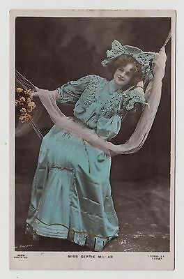 POSTCARD - Gertie Millar, stage beauty, Edwardian theatre actress, tinted