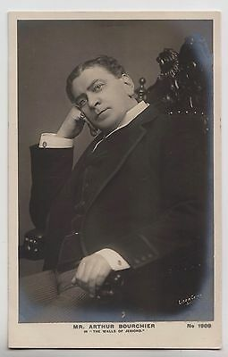 """POSTCARD - Arthur Bourchier, Edwardian theatre actor in """"The Walls of Jericho"""""""