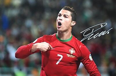 Portugal Cristiano Ronaldo Original Hand Signed Photo 30x20cm With COA