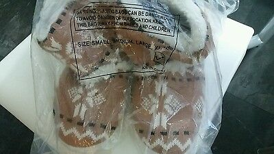 BNIB knitted slippers size 44