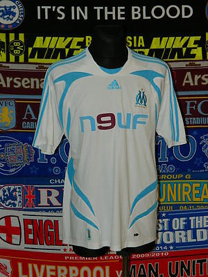 5/5 Olympique Marseille adults XXL 2007 football shirt jersey trikot maillot