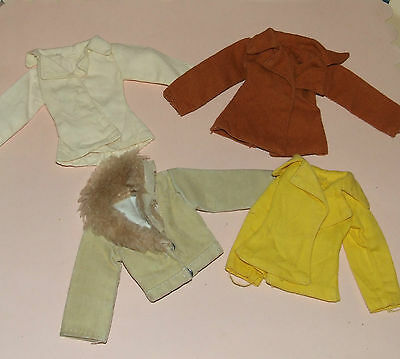 Vintage Sindy ~ 1977 & 1978 ~ Four Jackets ~ Good Condition