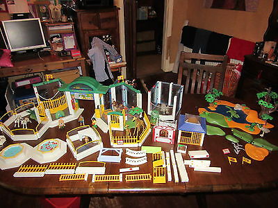 Playmobil Mixed Animal Bundle Zoo and Watering Hole Over 100 Items