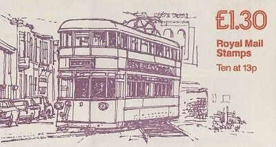 GB QEII 1984 CYL Booklet FL3A -  No 1 Trams Series - £1.30