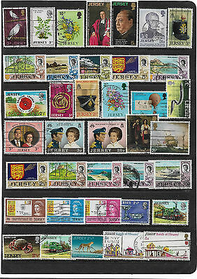 British Stamps COLLECTION From JERSEY All Different Used Collection