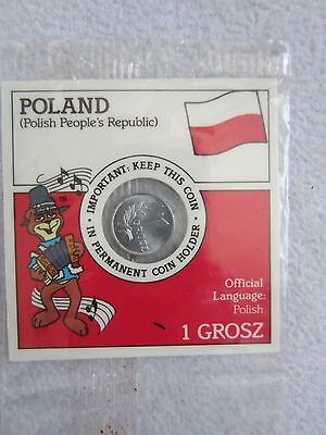 Old Poland Coin Polish Peoples Republic 1949 1 One Grosz Vintage Collectible~NIP