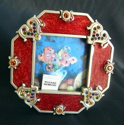JAY STRONGWATER  Ruby Red EVA Octagonal FRAME w/HEARTS MINT