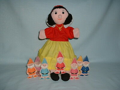 FIESTA CRAFTS SNOW WHITE AND THE SEVEN 7 DWARFS Hand Glove Puppet Soft Plush Toy