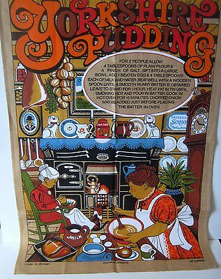 Vintage Yorkshire Pudding Tea Towel