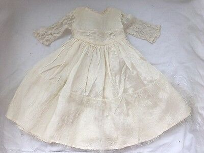 Vintage Doll Clothes Lot #17: CREAM LACE Dress Wedding Fashion