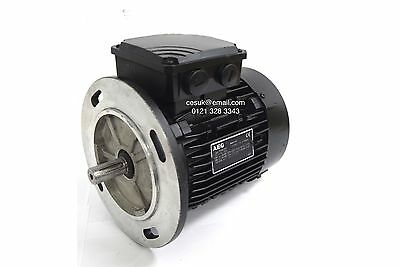 NEW AEG 0.37W Electric Motor 3-Phase AC 6-Pole B5 Foot 80 Frame 910RPM 0.5HP