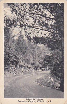 Cyprus Postcard Driving To Pedoulas  By Marangos Very Early And Rare