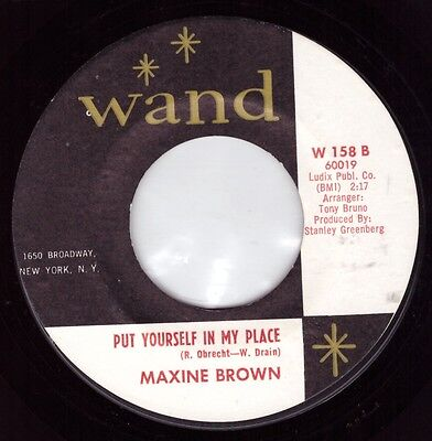 Northern Soul Original - Maxine Brown - Put Yourself In My Place -  Listen!