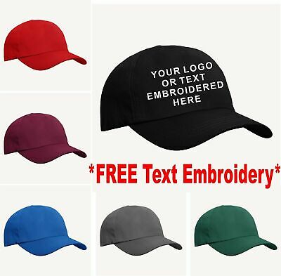 New Embroidered Personalised Baseball Cap, Workwear Custom Embroidered Gift