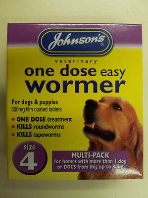 Johnson's One Dose Easy Wormer Size 4 Large Breeds